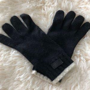 Coach gloves black wool